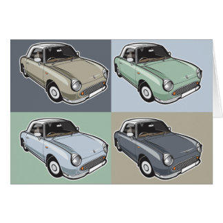 Tarjeta Nissan Figaro en cuatro colores