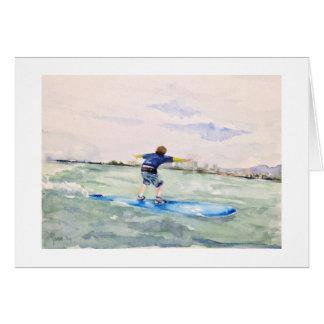 Tarjeta No. 1 de la persona que practica surf