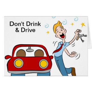 Tarjeta No beba y no conduzca