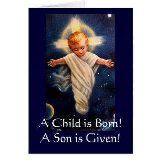 Tarjeta ¡No. de Propter del advenimiento, un niño nacen!