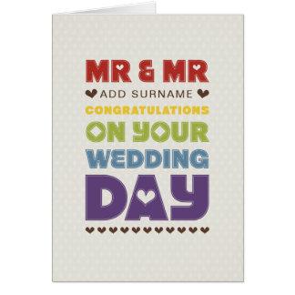 Tarjeta No derecho diseño - Sr. y Sr. - día de boda