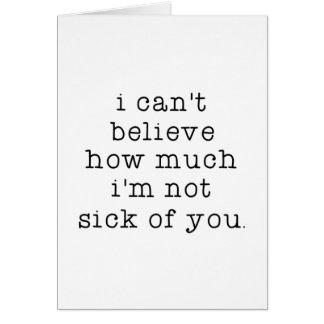 Tarjeta No enfermo de usted