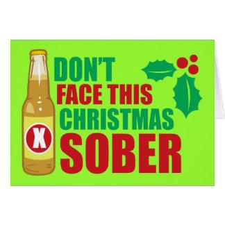 Tarjeta No haga frente este al navidad sobrio