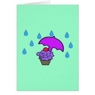 Tarjeta No llueva en mi magdalena