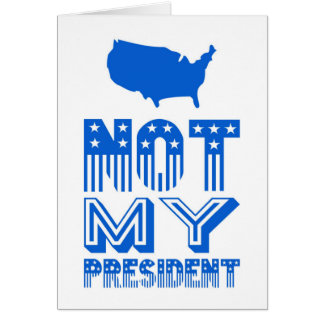 Tarjeta No mi azul de presidente América
