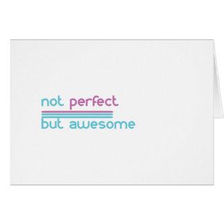 Tarjeta No perfecto….