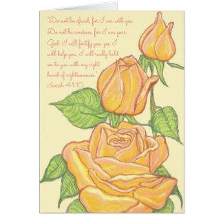 Tarjeta No sea Asustada-Yo su God~Scripture