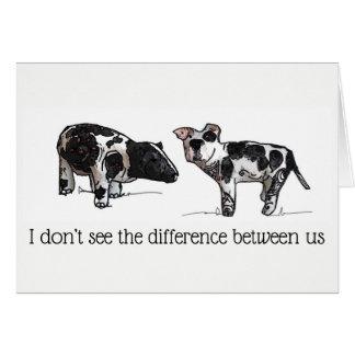Tarjeta No veo la diferencia entre nosotros