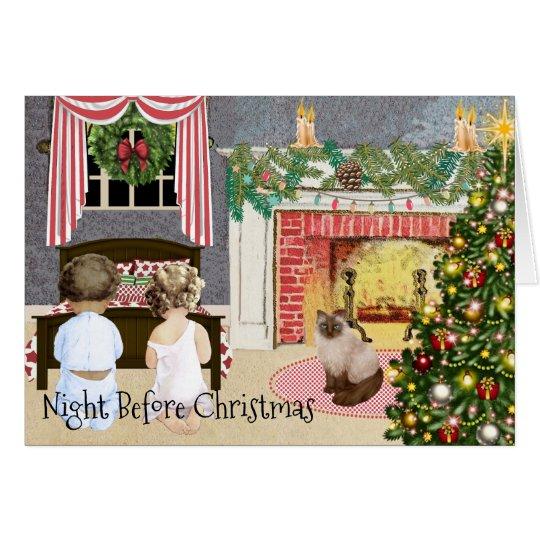 Tarjeta Noche antes del navidad
