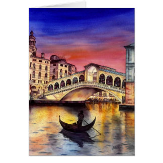 Tarjeta Noche de Venecia