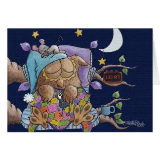 Tarjeta Noche del camisón, búho