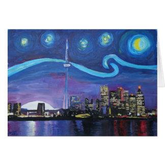 Tarjeta Noche estrellada en Toronto con las inspiraciones