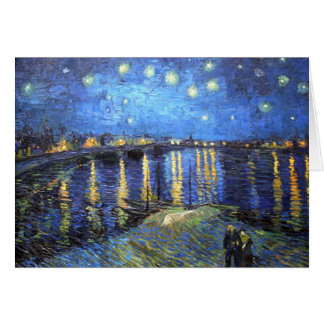 Tarjeta Noche estrellada: Van Gogh
