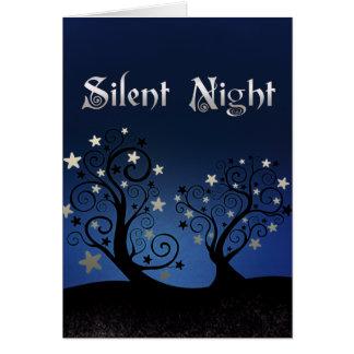 Tarjeta Noche silenciosa de los árboles estrellados