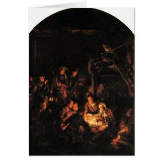 Tarjeta Noche silenciosa - Rembrandt 1640.