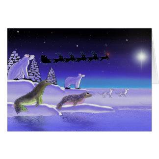 Tarjeta Nochebuena ártica