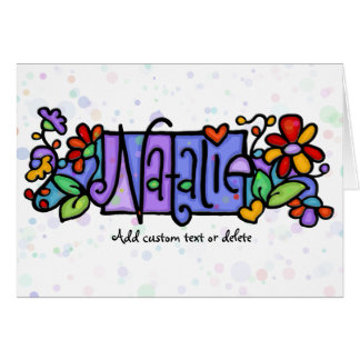 Tarjeta Nombre de encargo pintado a mano de NATALIE