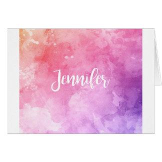 Tarjeta Nombre de Jennifer