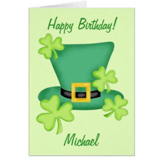 Tarjeta Nombre del feliz cumpleaños de St Patrick