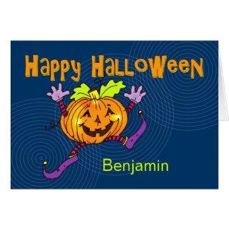 Tarjeta Nombre feliz del personalizado del feliz Halloween