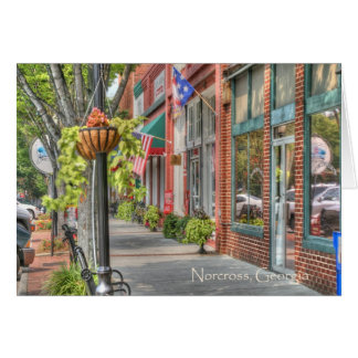 Tarjeta Norcross histórico: Escena de S. Peachtree Street