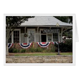 Tarjeta Norcross histórico GA: Depósito de tren el 3 de
