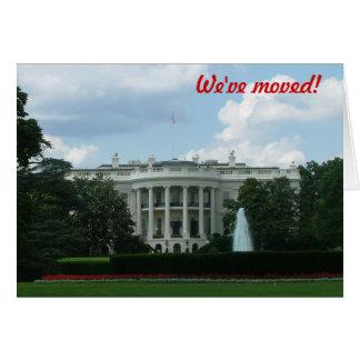Tarjeta Nos hemos trasladado - al Washington DC