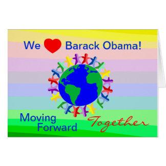 Tarjeta ¡Nosotros corazón Barack Obama! Voto en 11/06/12