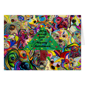 Tarjeta Nosotros tejido usted Felices Navidad
