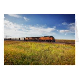 Tarjeta Nota de la foto del campo de Montana del tren de