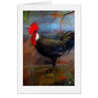 Tarjeta Nota de la impresión del arte del pollo del gallo