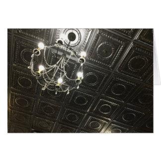 Tarjeta Nota de lujo del espacio en blanco del techo de la