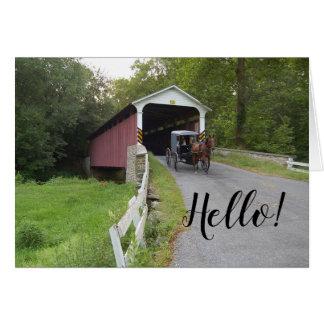 Tarjeta Nota del cochecillo de Pennsylvania Amish del