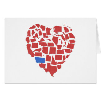 Tarjeta Nota del rojo de Montana del mosaico del corazón