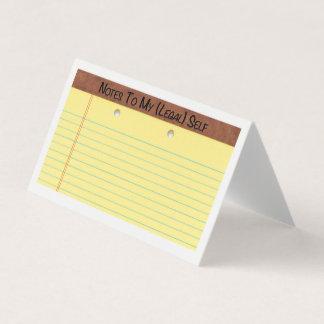 Tarjeta Notas a mi uno mismo (legal) -- cree sus los