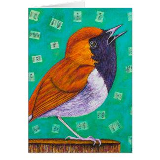 Tarjeta Notas del pájaro
