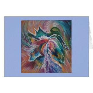 Tarjeta Notecard abstracto hermoso del ángel