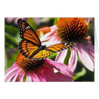 Tarjeta Notecard con la mariposa de monarca