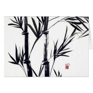 Tarjeta notecard de bambú del arte