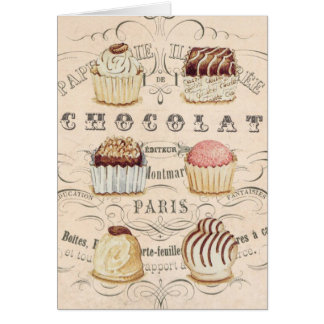 Tarjeta Notecard de Chocolat del vintage…