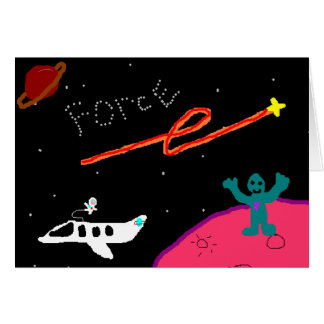 Tarjeta Notecard de la fuerza del planeta