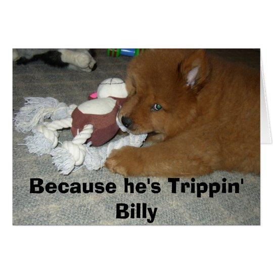 Tarjeta Notecard de Trippin Billy