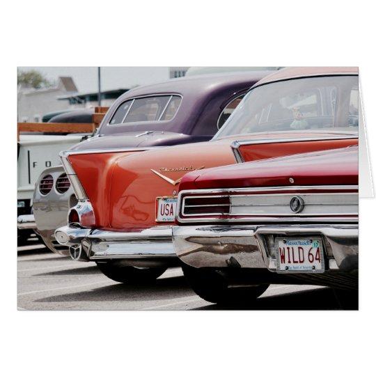 Tarjeta Notecard del amante clásico americano del coche