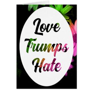 Tarjeta Notecard del odio de los triunfos del amor