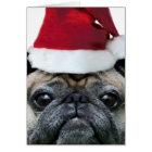 Tarjeta Notecard del perro del barro amasado del navidad