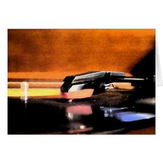 Tarjeta Notecard del tocadiscos