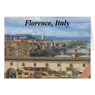 Tarjeta Notecard:  Florencia, Italia