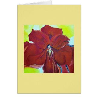 Tarjeta Notecard rojo hermoso de la flor