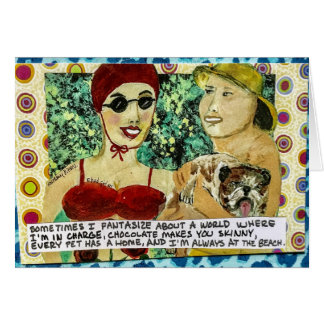 Tarjeta Notecard-sometimes I fantasize sobre un mundo