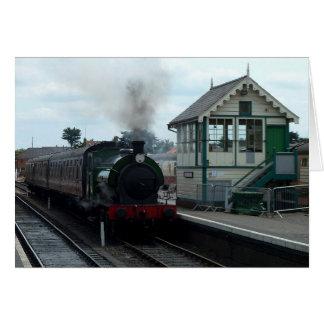 Tarjeta Notecard: Tren del vapor y caja de señal